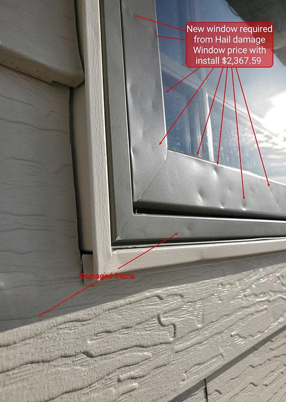 Hail Storm Damage to windows